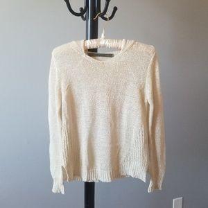 🎉 Enza Costa Open Knit Hoodie Sweater